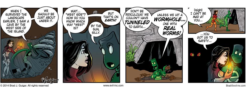 wormhole - Evil Inc by Brad Guigar 20140917