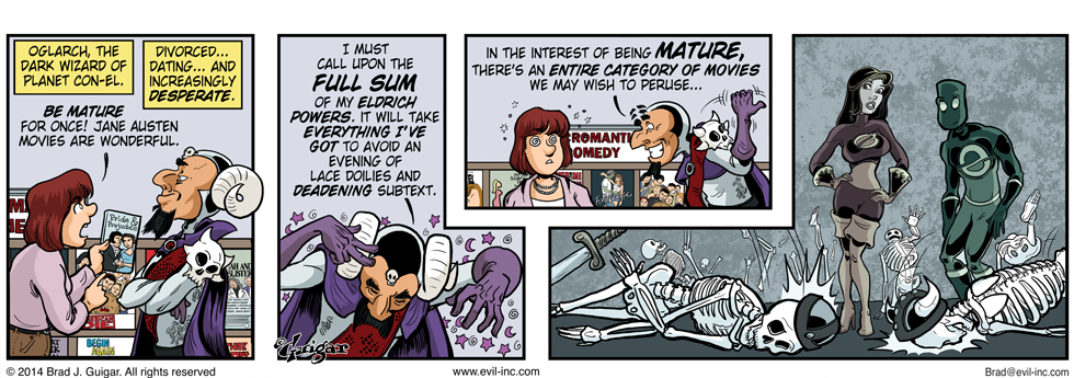 Mature audiences - Evil Inc by Brad Guigar 20140926